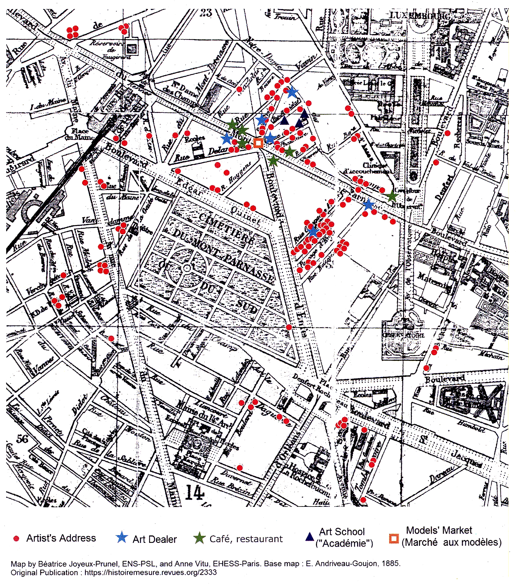 Circulation And The Art Market JoyeuxPrunel Journal For Art - Artistic map of paris