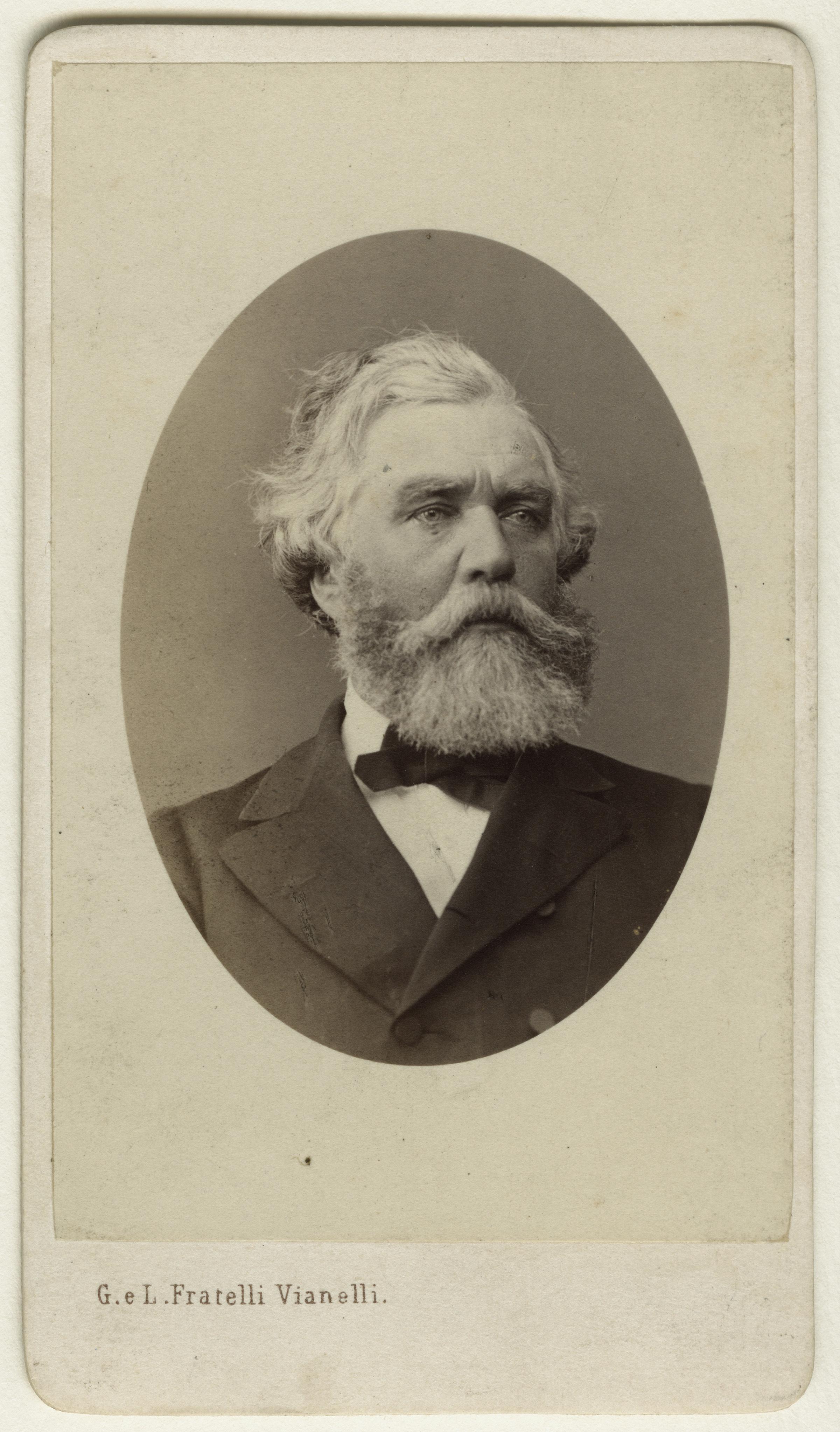 1 Fratelli Giuseppe E Luigi Vianelli Sir Austen Henry Layard 1860s Albumen Carte De Visite 63x46mm London National Portrait Gallery PG Ax17765